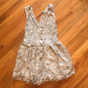 Urban Outfitters Floral Button Up Romper
